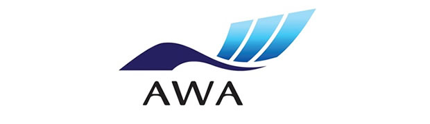 AWA Paper's logo in blue is double circle representing tradition and harmony.