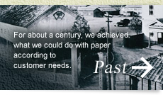 Past: For about a century, we achieved what we could do with paper according to customer needs.